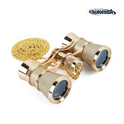 Aomekie 3X25 Theater Opera Glasses Binoculars for Musical Co