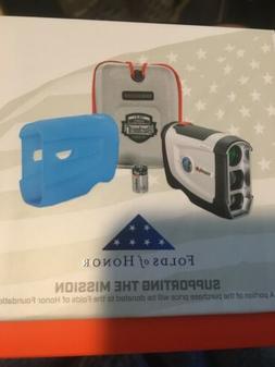 NEW Bushnell Tour V4 Patriot Pack Laser Rangefinder w Blue S