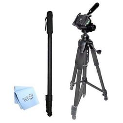 "SAVEoN 75"" Tripod + 72"" Monopod + SAVEoN MicroFiber Cleaning"