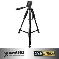 Ultimaxx 60-Inch Professional Camera Tripod for Canon, Nikon