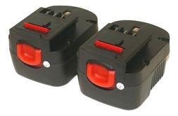 2X 12V 1.3AH Battery For BLACK & DECKER A12 FSB12 HPB12 Fire