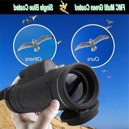 Ultra WaterProof Portable 40X60X Lens HD Monocular Telescope