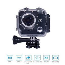 Matego Underwater Camera WiFi 4K Action Camera with Sony Sen