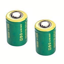 IORMAN 2-Pack Universal 3V 800mAh CR2 Rechargeable Lithium B