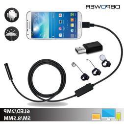 DBPOWER USB Mobile Endoscope 2MP 8.5MM Lens 5M Snake Camera