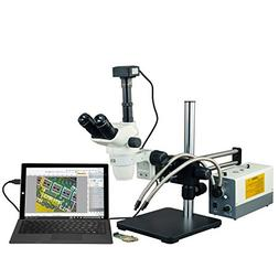 OMAX 2X-270X USB3 14MP Simal-focal Zoom Stereo Microscope on