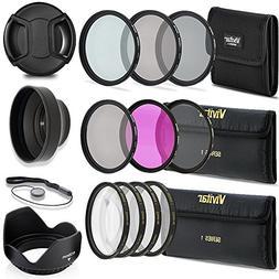 Professional 58MM UV CPL FLD Filters + Neutral Density Set +