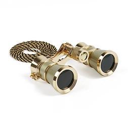 Kingscope 3X25 Vintage Opera Glasses Binoculars for Theater