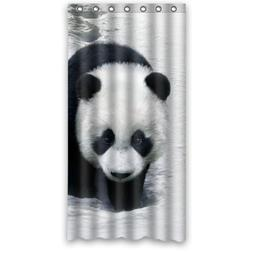 "36"" x 72"" Cute Panda Snowshoeing New Style 100% Polyester Sh"