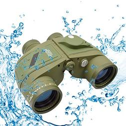 Twod 10X50 Waterproof Binoculars with Rangefinder & Illumina
