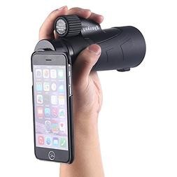 12x50 Waterproof Monocular With Hand Strap with Tripod and A