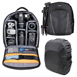Premium Quality, Black Water-Resistant Rucksack with Customi