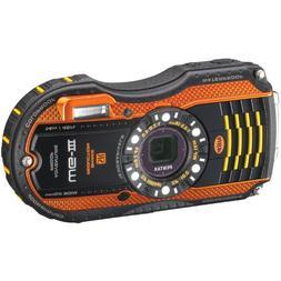 Pentax WG-3 Compact Camera Kit, Orange 12695