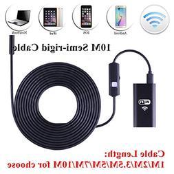 8.0mm WiFi Endoscope Inspection with 10M Semi-Rigid Cable iO