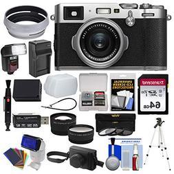 Fujifilm X100F Wi-Fi Digital Camera  with Leather Case + 64G