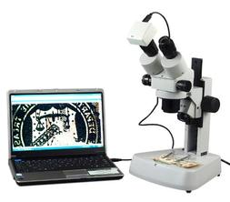 OMAX 3.5X-90X Digital Zoom Binocular Stereo Microscope with