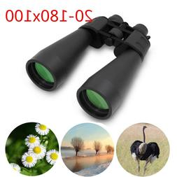 Zoom Binoculars 20-180x100 Day Night Vision Optics Telescope