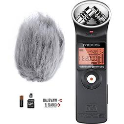Zoom H1 Handy Portable Digital Recorder Bundle with Movo Dea