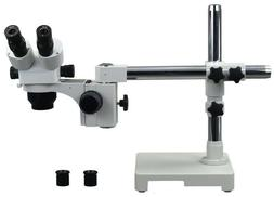 OMAX 5X-80X Zoom Single Bar Boom Stand Stereo Microscope