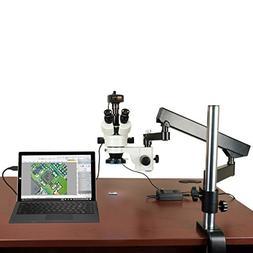 OMAX 3.5X-90X 14MP Digital Zoom Stereo Microscope on Articul